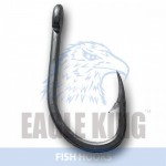 Forged crooked ultrasteel hook with short shank