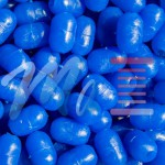 Non-luminous oval blue beads with hole 8x12-2,5mm anti-break