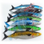Artificial 30 cm mackerel. Different colours